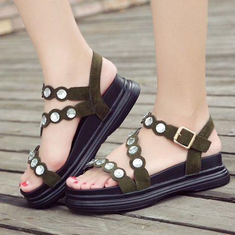 Women Platform Sandals Casual Comfort Adjustable Buckle Shoes