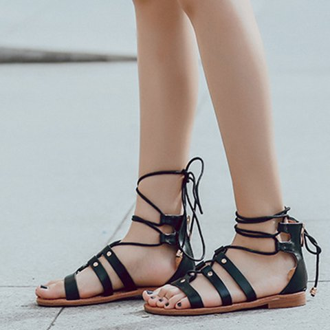8c2c48a42 Justfashionnow Women s Sandals Black Open Toe Chunky Heel Simple ...