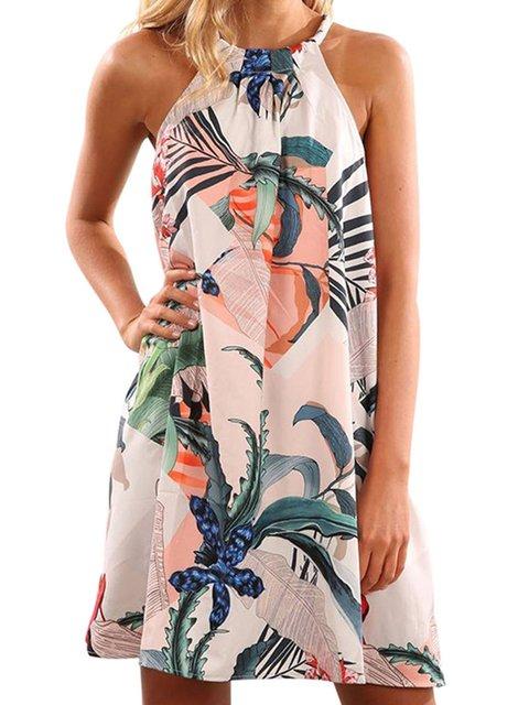 Crew Neck Women Summer Dresses Shift Casual Dresses