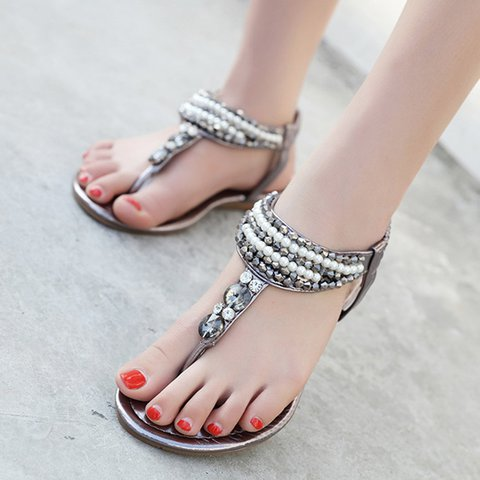 Casual Women's Slip-On Boho Elastic Band Sandals