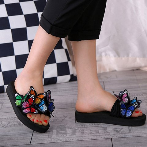 Women's Summer Butterfly Flat Slip-On Slippers