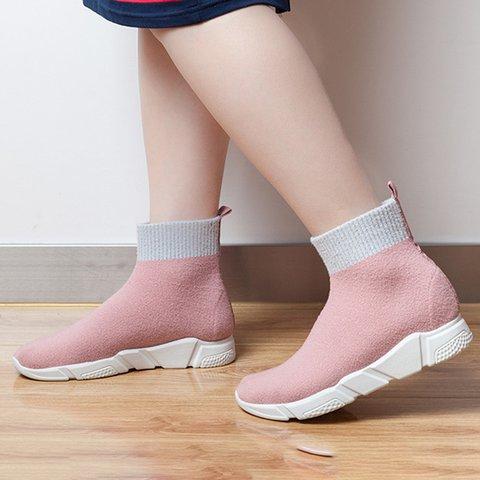 Womens Mesh Fabric Summer Socks Casual Sneakers