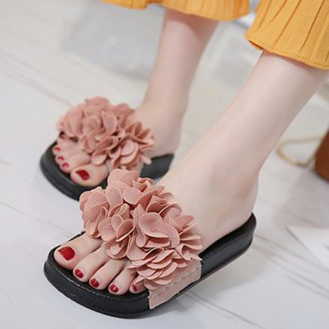 Flower Flat Heel Daily Summer Slippers