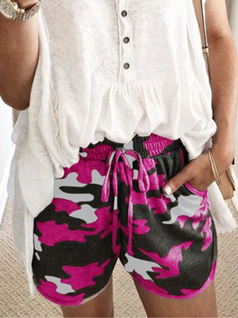 Size S-5XL Camouflage Pockets Drawstring Casual Shorts