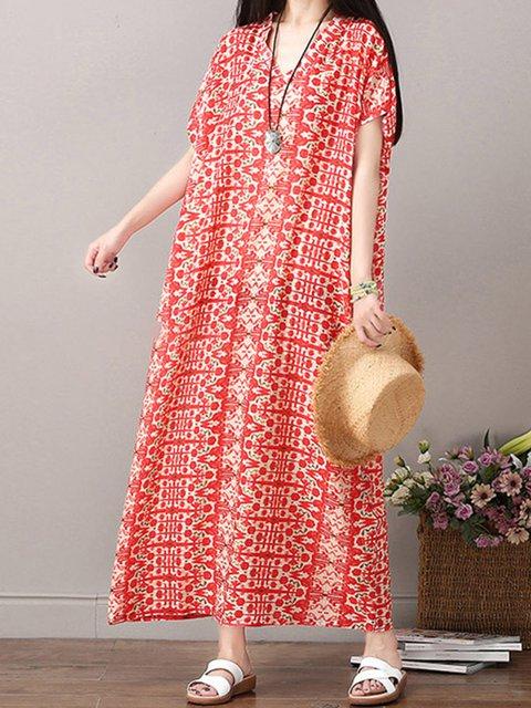 Women Floral Dresses Shift Beach Boho Geometric Dresses