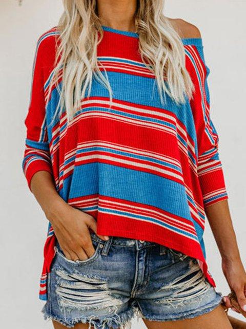 Stripe Holiday Paneled Striped T-Shirts
