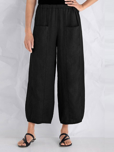Vintage Pockets Wide Leg Pants for Women