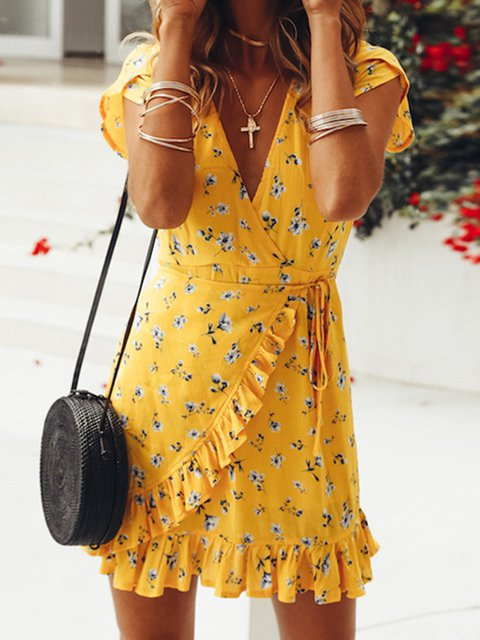 Women Summer Beach Chiffon Casual Boho Dresses