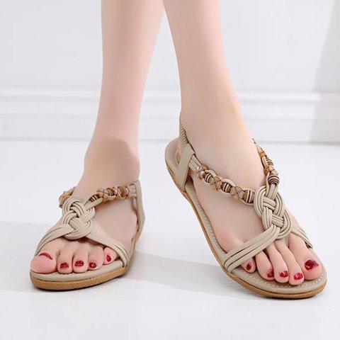 Casual Women's Slip-On Boho Elastic Band Sandals