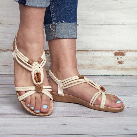 Women Summer Clip Toe Bohemia Slippers Flip Flops Flat Sandals