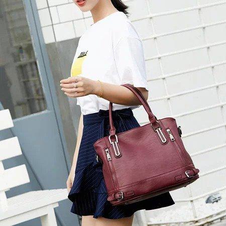 Genuine Leather Handbags Luxury Messenger Bags bolsa feminina Women s  Shoulder Bags 64ab37bcb86cc