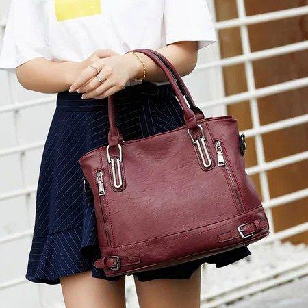 Genuine Leather Handbags Luxury Messenger Bags Women Shoulder Bags