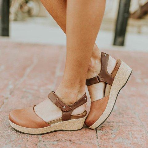 Women Clogs Magic Tape Sandals