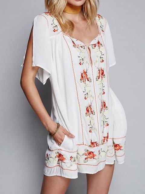 Floral Fashion Chiffon Summer Dresses Daily Casual