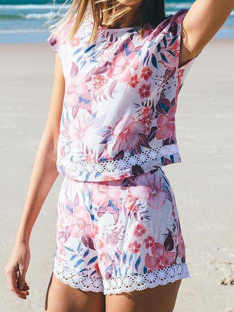Boho Short/Long Sleeve Tribal Two Pieces Beachwear