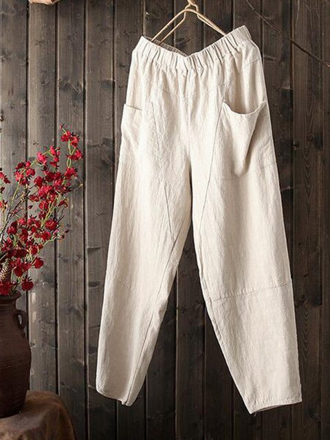 Large pocket loose large size harem pants nine Pants