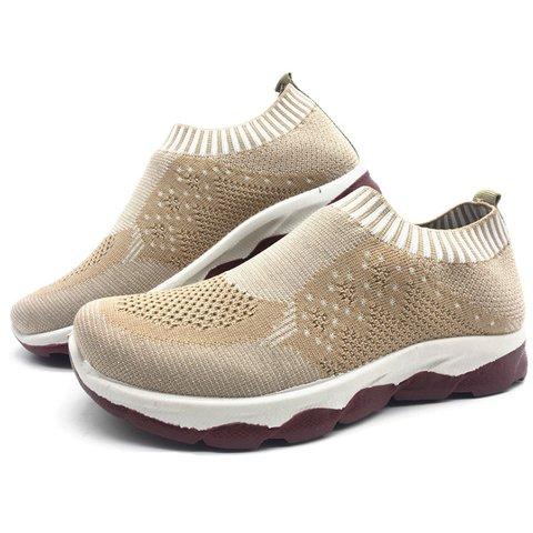 47ce9b4df Breathable Elastic Cloth Plus Size Shoes Platform Slip On Sneakers