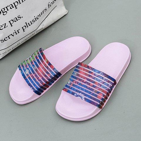 Womens Flat Heel Summer Pu Slippers