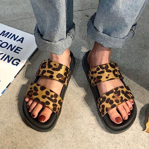 Double Strap Open Toe Flat Sandals Beach Slippers