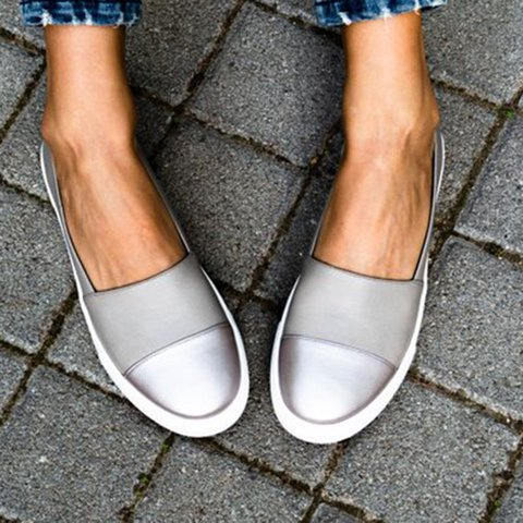 Women's All Season Slip-On Round Toe Loafers
