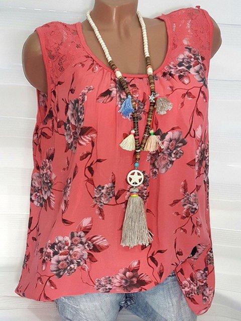Casual Floral Print Camis