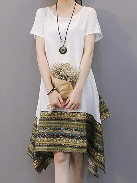 Tribal Casual Relaxed Dresses Tunic Tops