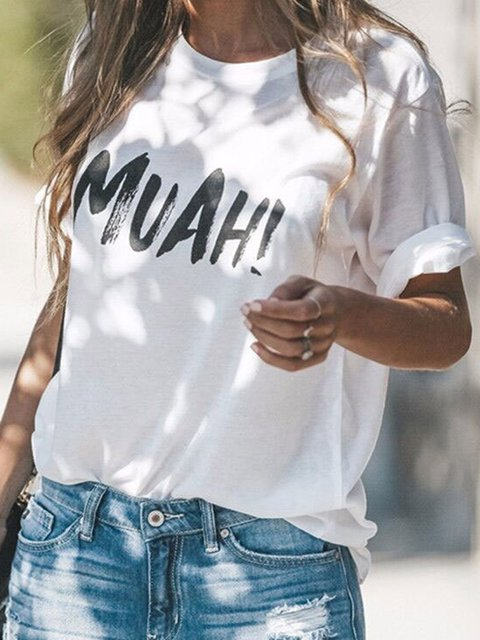 Muah Print Summer T-shirts