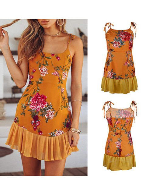 50ef1ad127 Justfashionnow Party Dresses Sundress Going Out Holiday Floral-Print ...