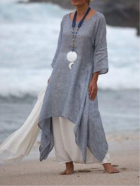 Women Summer Dresses Daytime Asymmetric Dresses