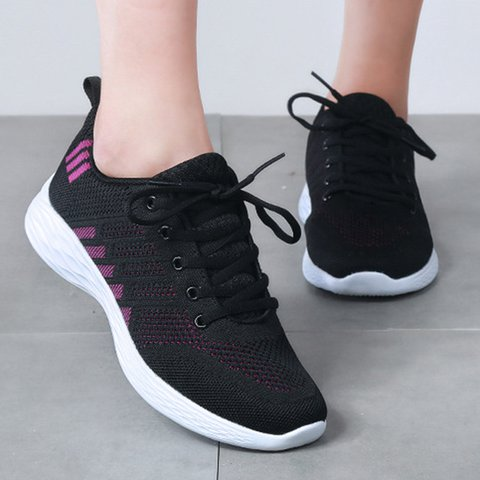 Womens Large Size Casual Mesh Fabric Sneakers