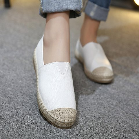Women PU Loafers Espadrilles Shoes