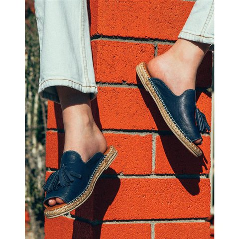 Casual Peep Toe Tassel Flat Sandals