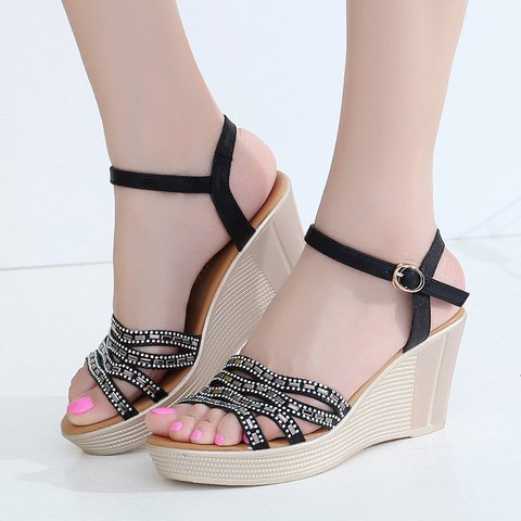 Daily Artificial Pu Wedge Heel Other Shoes