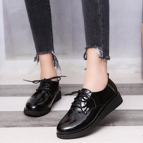 Lace-Up Wedge Heel All Season Oxfords