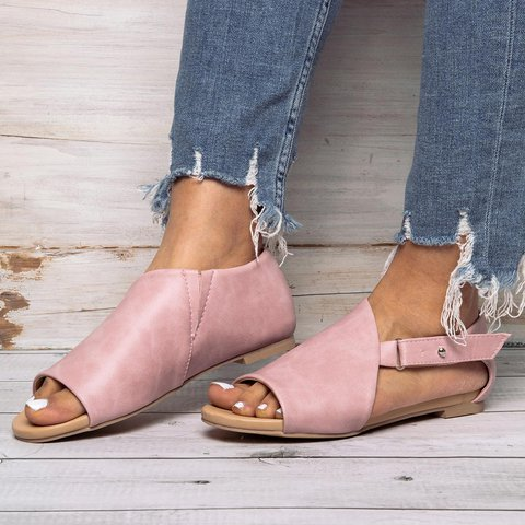 Women OpenToe Closed Back Sandals Shoes