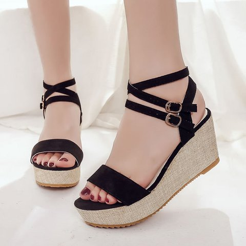 Summer Wedge Buckle Daily Sandals