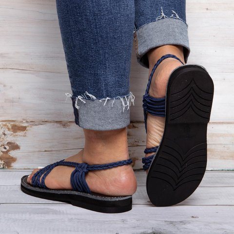 1380755a8 JustFashionNow Women s Sandals Black-Blue Sandals