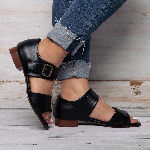 7a9d09d79 Justfashionnow Women s Sandals Flat Heel Green Open Toe Casual Sandals