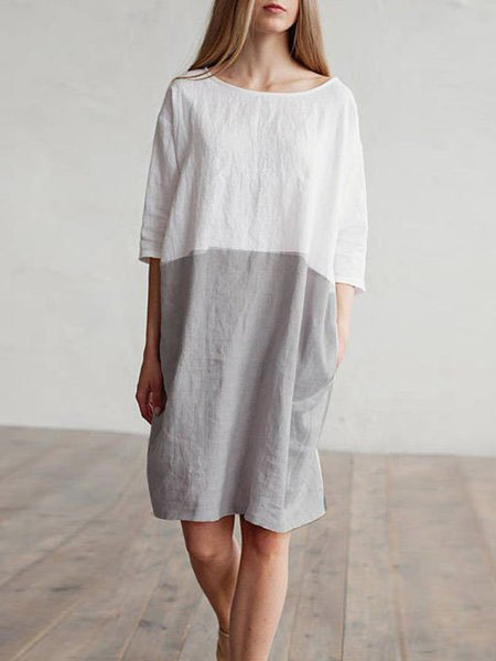 c947910aba47 JustFashionNow Plus Size Crew Neck Women Summer Dress Shift Dress 3 ...