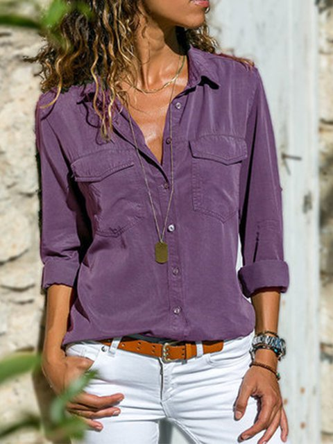 Work Solid Shirts & Tops