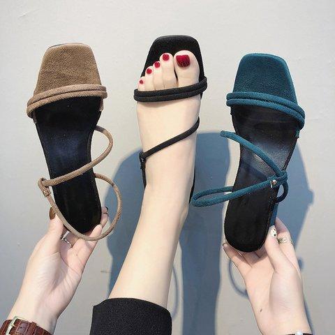 Women Suede Pumps Sandals Casual Shoes