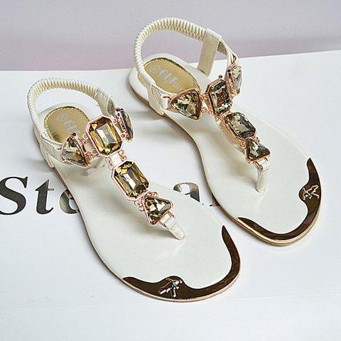 Women Rhinestone Sandals Elastic Band Shoes