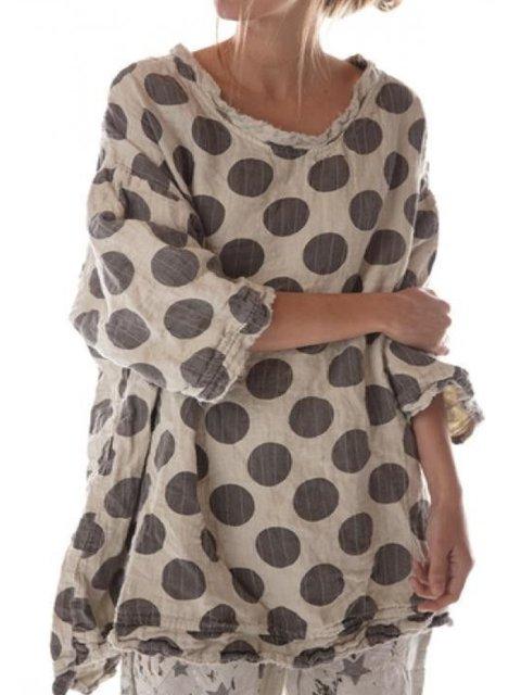 Women Spring Polka Dots Blouses