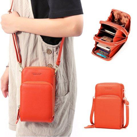 PU leather Clutch Bag Card Bag Phone Bag Crossbody Bag