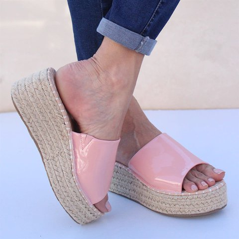 Slip On Espadrille Wedges Women's Shoes