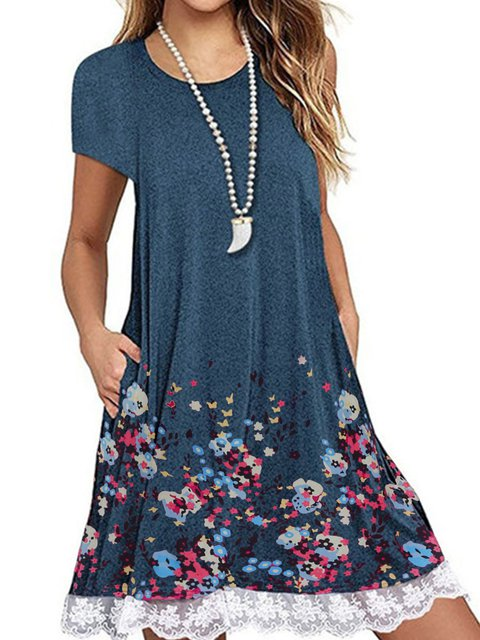 3474ac16d29b6 Justfashionnow Summer Dresses 1 Shirt Dress Holiday Shift Crew Neck ...
