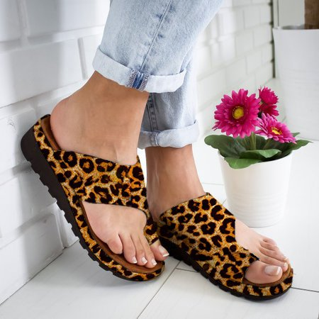 Womens Casual Artificial Suede Comfy Platform Slippers