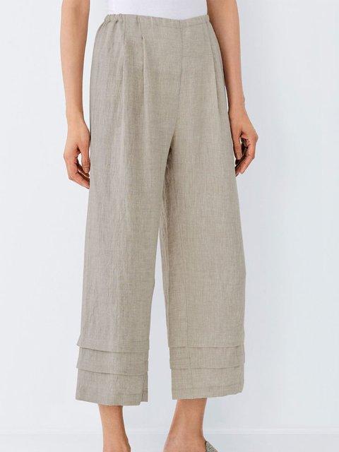 Simple & Basic Cotton-Blend Pants
