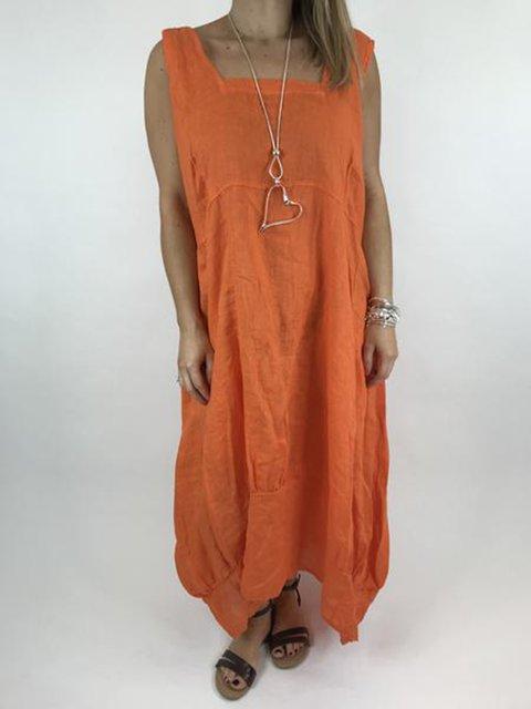 Asymmetric Scoop Neckline Women Sheath Casual  Dresses