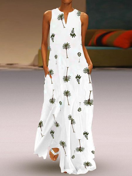 V Neck Holiday Boho Summer Maxi Dresses Daily